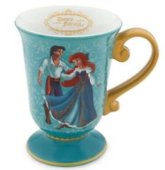 Disney Store Disney Fairytale Designer Collection Princess Ariel & Prince Eric Mug: The little Mermaid Coffee Cup