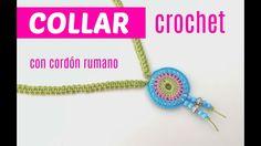 Collar de crochet con cordón rumano