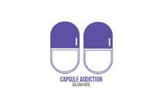 Capsule Addiction Logo Templates Capsule Addiction Logo designed moments to create a brand identity.Features:¡ñ Available in Ai, E by erikadesign