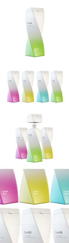 Twist shampoo, Прочее © Berik Yergaliyev Pink Bottle, Package Design, Product Design, Branding Design, Bottles, Shampoo, Design Ideas, Smooth, Packaging