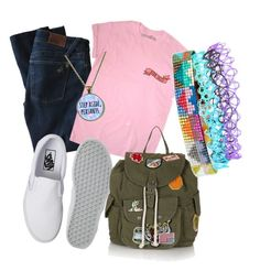 """""""Untitled #138"""" by briannasealy on Polyvore featuring DL1961 Premium Denim, Vans, Topshop and Julie Rofman"""