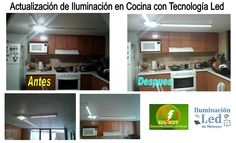Actualización de iluminación en cocina con tecnología LED