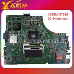 68.00$  Buy here - http://ali3zp.worldwells.pw/go.php?t=32790619498 - For Asus K53SV system board motherboard 8 memory mainboard rev 3.0 GT 540M with 2GB DDR3 RAM 100% test