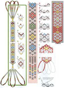 схема плетения трех закладок