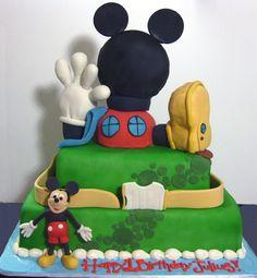 Mickey Mouse Birthday Cake Design
