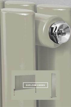 Introduce colour into your decor with our calm sage green Milano Aruba designer radiators. Radiator Shop, Horizontal Radiators, Designer Radiator, Contemporary Design, Sage, Colour, Green, Decor, Color