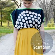 See how to make a SUPER easy shirt with two scarves!