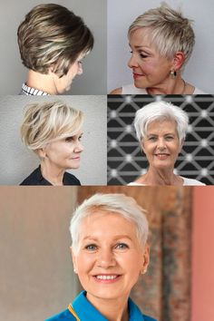 Short haircuts (pixie + bob ) for women over 60 in 2021-2022 (for all hair types) Short Pixie Haircuts, Pixie Bob, Pixie Hairstyles, Hair Color For Women, Short Hair Cuts For Women, Short Hair Styles, Over 60, Older Women Hairstyles, Hair Type