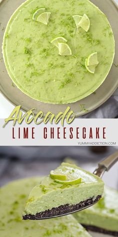 Avacado Desserts, Lime Desserts, Refreshing Desserts, Avocado Recipes, Healthy Dessert Recipes, Healthy Desserts, Delicious Desserts, Yummy Food, Lime Recipes Healthy