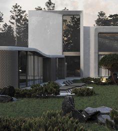 Architecture, Doors, Mansions, Landscape, House Styles, Luxury, Outdoor Decor, Design, Facades