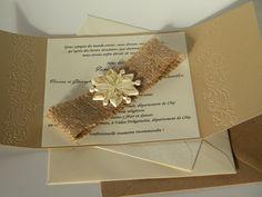 Snowflake burlap invitation / Snowflake invitation / Winter wedding invitation