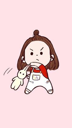 อ้วนนน Girl Cartoon, Cartoon Art, Cartoon Drawings, Cute Drawings, Kawaii Illustration, Dibujos Cute, Fanarts Anime, Cute Cartoon Wallpapers, Kawaii Wallpaper