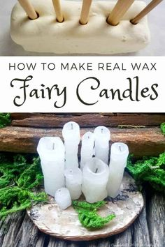 Human beings aren't the only creatures who love candles, the fae folk are fans too. Here's a quick and easy way to make a whole bunch of real fairy candles in no time at all. Perfect for your doll's house or if you just want to spoil your little friends #fairycandles #miniaturecandles #acraftymix #miniaturetutorial #tinycandles #pixiedust
