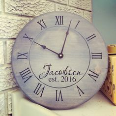 A personal favorite from my Etsy shop https://www.etsy.com/ca/listing/480899239/handmade-wooden-clock
