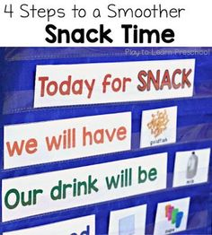Preschool Snack Time