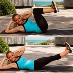 Squat Cross Crunch - Bikini-Belly Bootcamp - Shape Magazine - Page 4