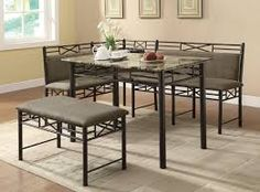 metal dining table - Google Search