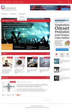 Newsright is a Premium Responsive Magazine Theme, powerful theme built on the latest Bootstrap 3.0 framework. It comes with lots of options, so you can change the layout style, colors, and fonts. Lots of elements, shortcodes, widget areas. Newsright very intuitive and completely ready to use out of the box