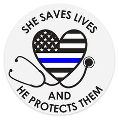 She saves lives and he protects them Mrs. thin blue line police wife leo wife sticker vinyl decal ca Correctional Officer Wife, Police Wife, Sticker Vinyl, Car Decals, Leo Wife, Blue Line Police, Thin Blue Lines, Stickers