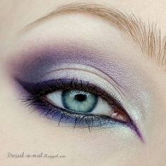 Step 1 - Apply a blue based purple in the crease and above crease Step 2 - Apply…