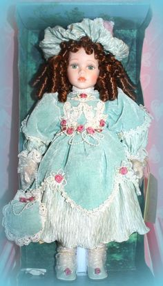 "*NEW* SEYMOUR MANN CONNOISSEUR COLLECTION 19"" JULIE PORCELAIN DOLL *RETIRED* #Dolls"