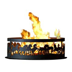 P & D Metal Works Mustangs Ring Fire Pit | Lowe's Canada