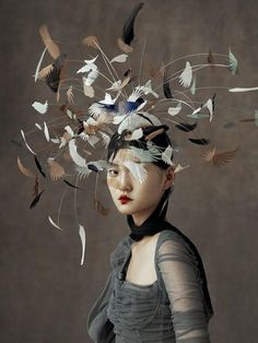 """cool """"The Peking Opera"""" by Wangy Xin Yu for Harper's Bazaar China Ma. """"The Peking Opera"""" by Wangy Xin Yu for Harper's Bazaar China May Hat by Harvy Santos """"Birdy"""" collection🕊 Have a nice. Fashion Art, Editorial Fashion, China Fashion, Fashion News, Fashion Outfits, Renaissance Kunst, Harper's Bazaar, Bazaar Ideas, Origami Fashion"""