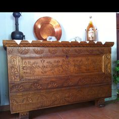 Woodwork in traditional Sardinian style