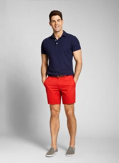 Red Seven-Inch Washed Chino Shorts for Men | Bonobos - perfect summer outfit
