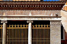 Twelfth Century Ionic columns of the portico of the church of San Giorgio in Velabro, Rome (Italy)