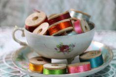 1 Spool Vintage Silk Thread by CaityAshBadashery on Etsy