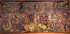"""Battaglia di Pavia:  Cattura di Francesco I di Francia"", Bernard Van Orley"