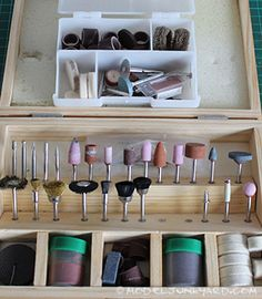 A very neat and tidy Dremel tool box