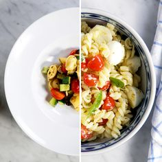 Learn two super practical and tasty pasta salad recipes. Learn two super practical and tasty pasta salad recipes. Lunch Recipes, Salad Recipes, Vegetarian Recipes, Dinner Recipes, Cooking Recipes, Healthy Recipes, Pasta Recipes, Pasta Salad, Food Videos