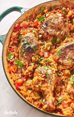 Arroz Con Pollo Is Our New Favorite Dinner Delish Mexican Food Recipes, Dinner Recipes, Ethnic Recipes, Easy Weeknight Meals, Easy Meals, Pollo Recipe, Ranch Chicken Casserole, Main Dishes, Chicken Recipes