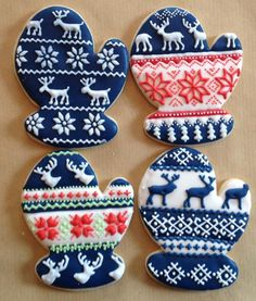Nordic mittens by Erica Seifert, posted on Cookie Connection