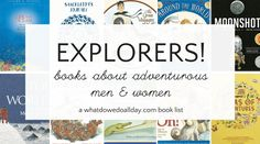 Children's books about explorers. Nonfiction adventure books that will inspire kids to dream about their own travel adventures. Nonfiction Books For Kids, Adventure Travel, Adventure Books, Motivational Messages, Inspiration For Kids, Kids Reading, Amazing Adventures, Book Lists, Childrens Books