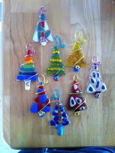 Glass fused Christmas ornaments!!