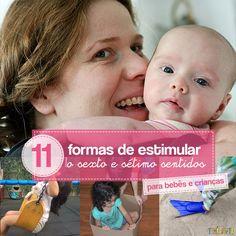Brincadeiras para estimular sentidos dos bebês e crianças