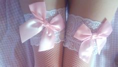 lace and ribbon garters.