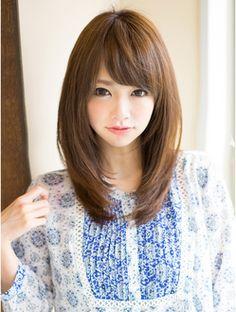 Pin on ヘア Japanese Haircut, Japanese Hairstyle, Medium Hair Cuts, Medium Hair Styles, Short Hair Styles, Kawaii Hairstyles, Hairstyles Haircuts, Mid Length Hair, Haircuts For Long Hair