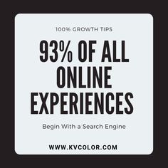 93% of all online experiences begin with a search engine