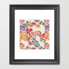 Flowers+Framed+Art+Print+by+Moniquilla+-+$30.00