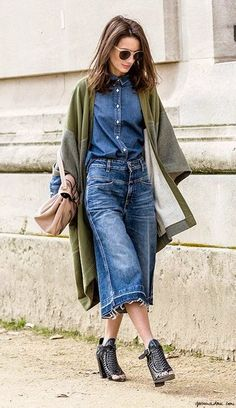 awesome double denim situ. Paris. #GaranceDore