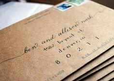 Envelope Lettering, Calligraphy Envelope, Envelope Art, Brush Lettering, Lettering Design, Lettering Styles, Calligraphy Words, Calligraphy Handwriting, Modern Calligraphy