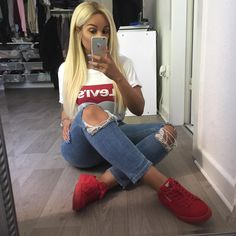 Best Baddie Outfits Part 2 Swag Outfits, Dope Outfits, Casual Outfits, Summer Outfits, Fashion Killa, Girl Fashion, Fashion Outfits, Fashion Trends, Ootd Fashion