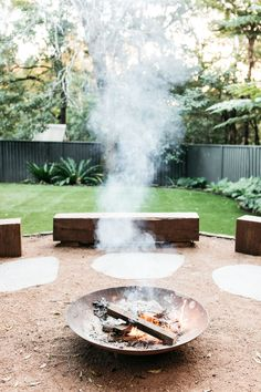 Heathcote - Rustic - Sydney - by Fig Landscapes Outdoor Fire, Outdoor Areas, Outdoor Living, Outdoor Decor, Landscape Design, Garden Design, House Landscape, Fresco, Cabana