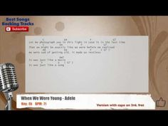 When We Were Young - Adele Vocal Backing Track with chords and lyrics