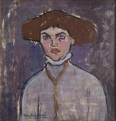 '`bust` von junges mädchen' von Amedeo Modigliani (1884-1920, Italy)