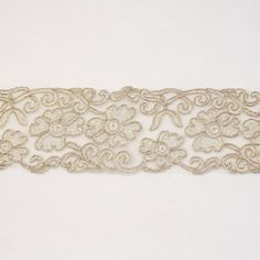 White metallic lace trim metallic ribbon trim by the yard for fabric Millinery accent motif scrapbooking card making lace decoration baby headband hair accessories dress accessories Bridal beaded trim by Annielov trim 277 >>> Visit the image link more details.